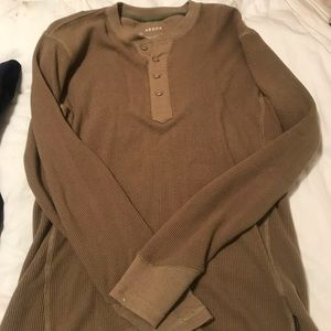 Arbor tan long sleeve shirt- size M
